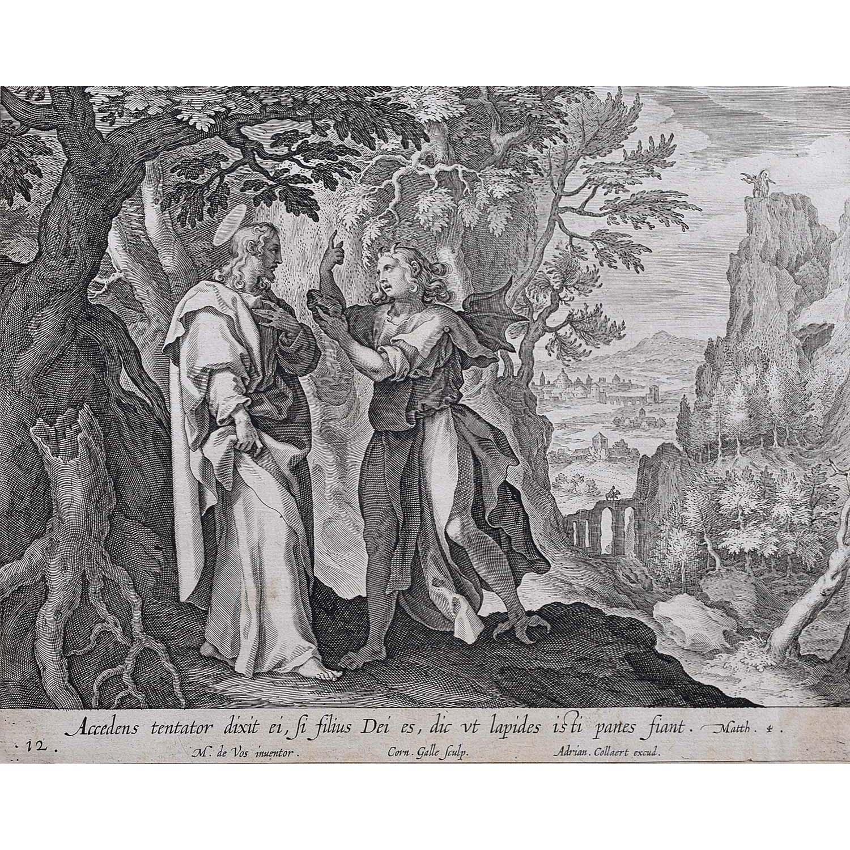 Adrian Collaert Martin de Vos Jesus and the Tempter