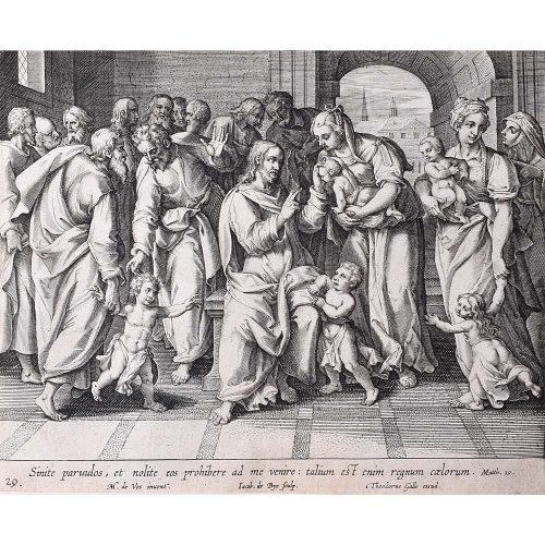 Adrian Collaert Martin de Vos Jesus and the Children