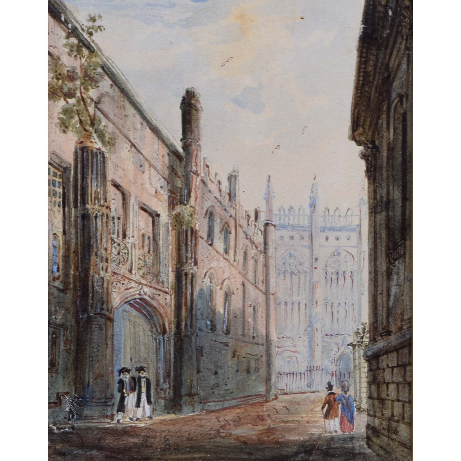 Anonymous King's College Cambridge Early 19th Century Watercolour