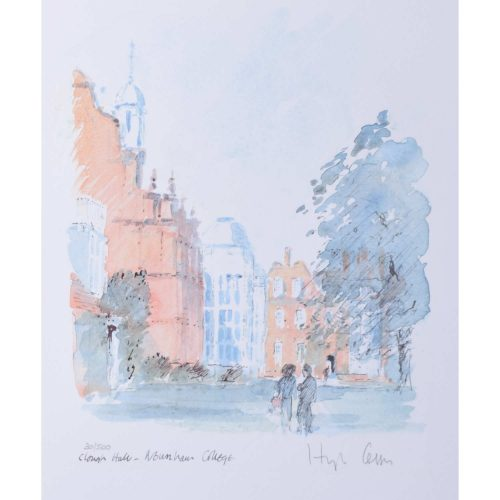 Hugh Casson Newnham College Cambridge Clough Hall limited edition print