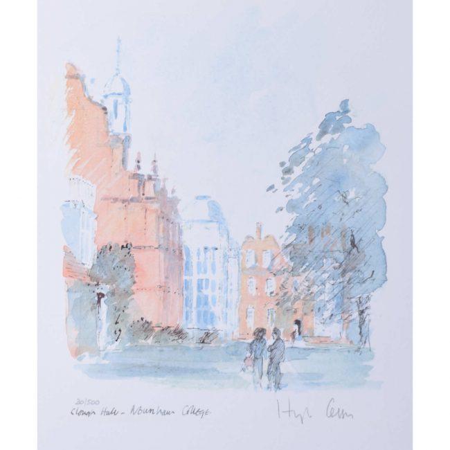 Hugh Casson Newnham College Cambridge Clough Hall limited edition print