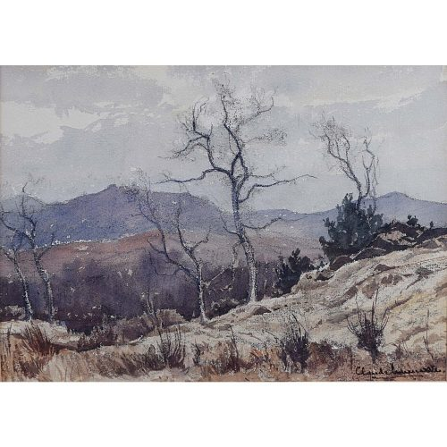 Claude Muncaster Moorland Watercolour
