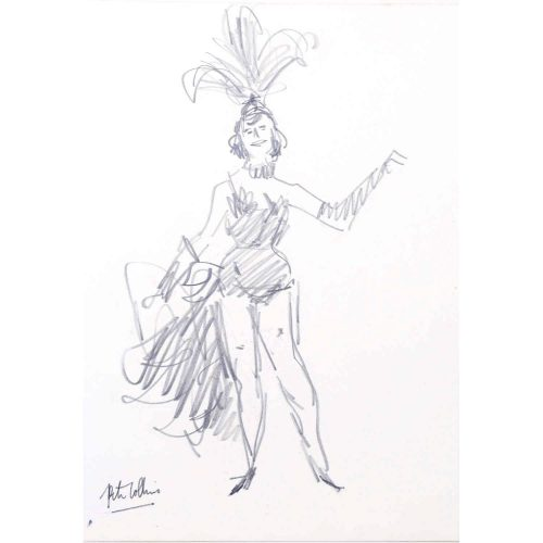 Peter Collins Exotic Dancer ARCA Pencil Sketch