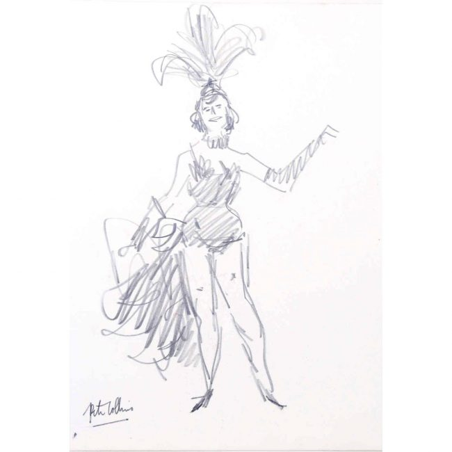 Peter Collins Exotic Dancer ARCA Pencil Sketch