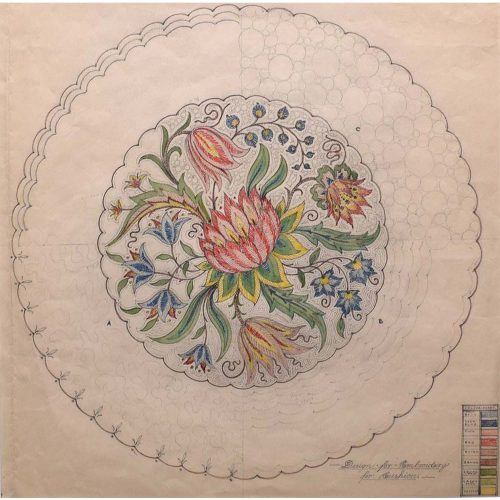 D.L Hadden Design for an Embroidery for Cushion c.1930