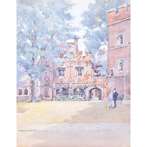 Nora Davison Eton College Watercolour c. 1920