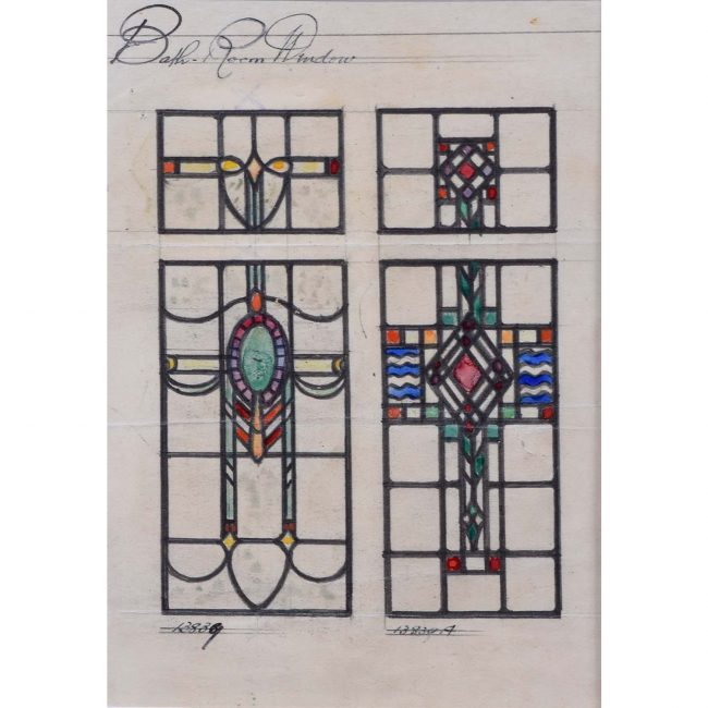 Florence Camm TW Camm Stained Glass Window Design For Ball Room