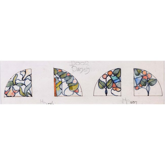 Florence Camm TW Camm Stained Glass Window Design For Door Panels