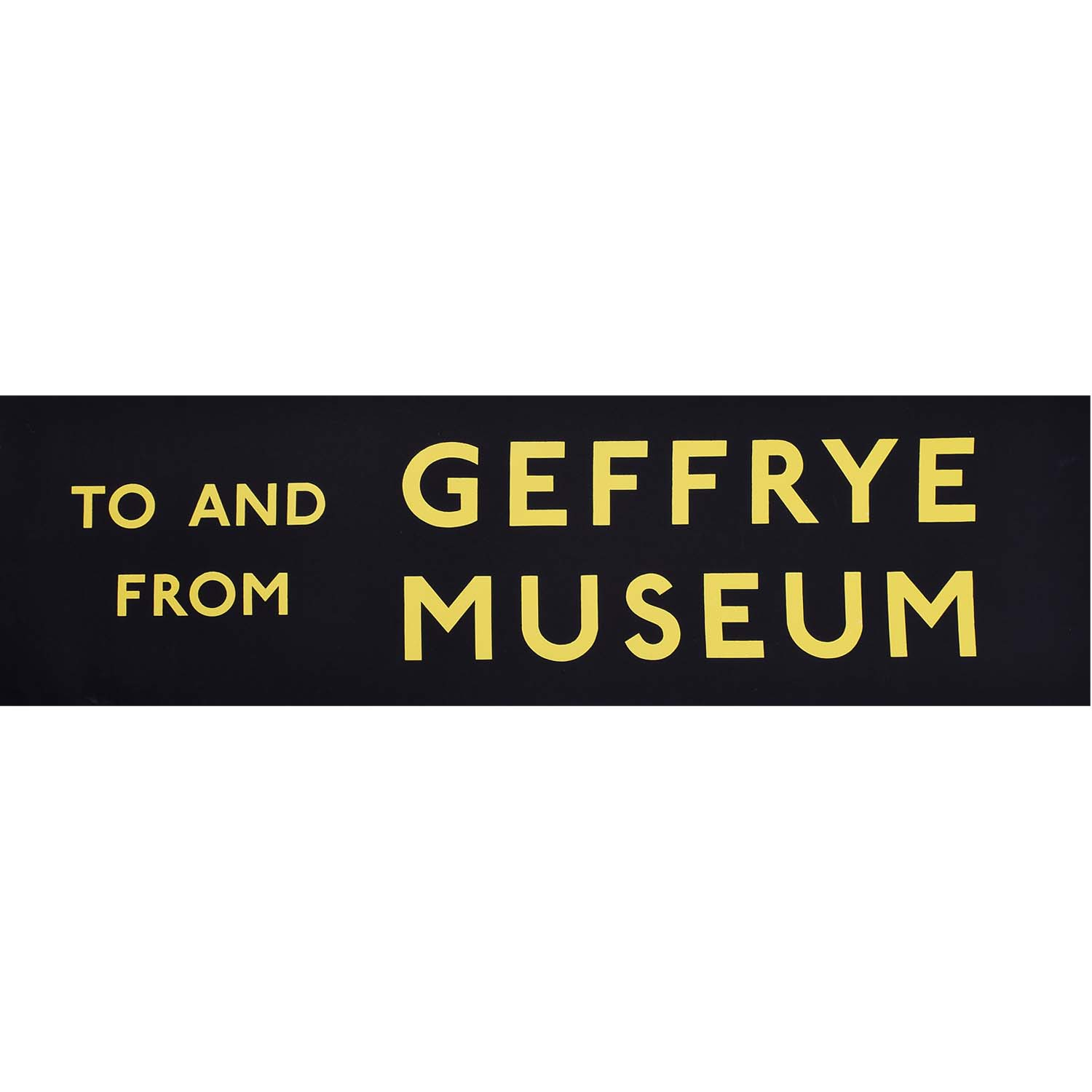 To and From Geffrye Museum Routemaster Bus Slipboard Poster c1970