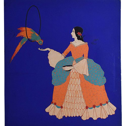 Gladys Williamson Lady and Parrot 1931