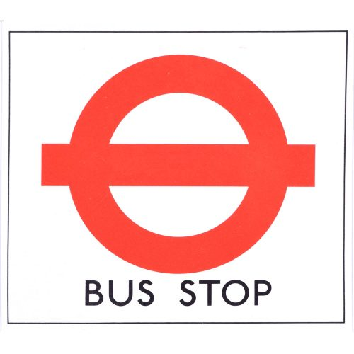 Hans Schleger 'Zero' London Transport Bus Stop