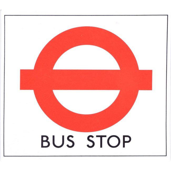 Hans Schleger 'Zero' London Transport Bus Stop
