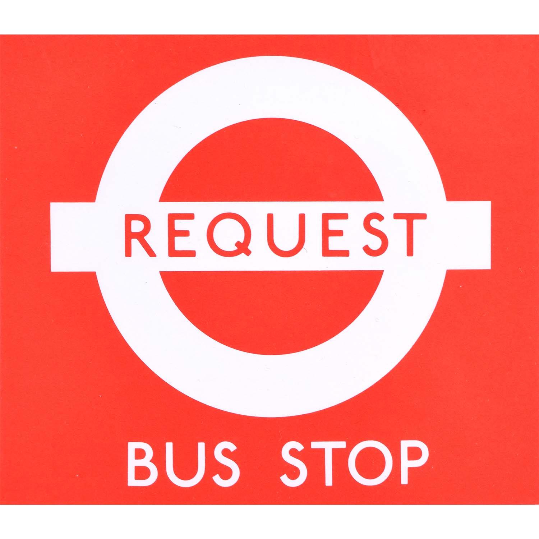 Hans Schleger 'Zero' London Transport Request Bus Stop
