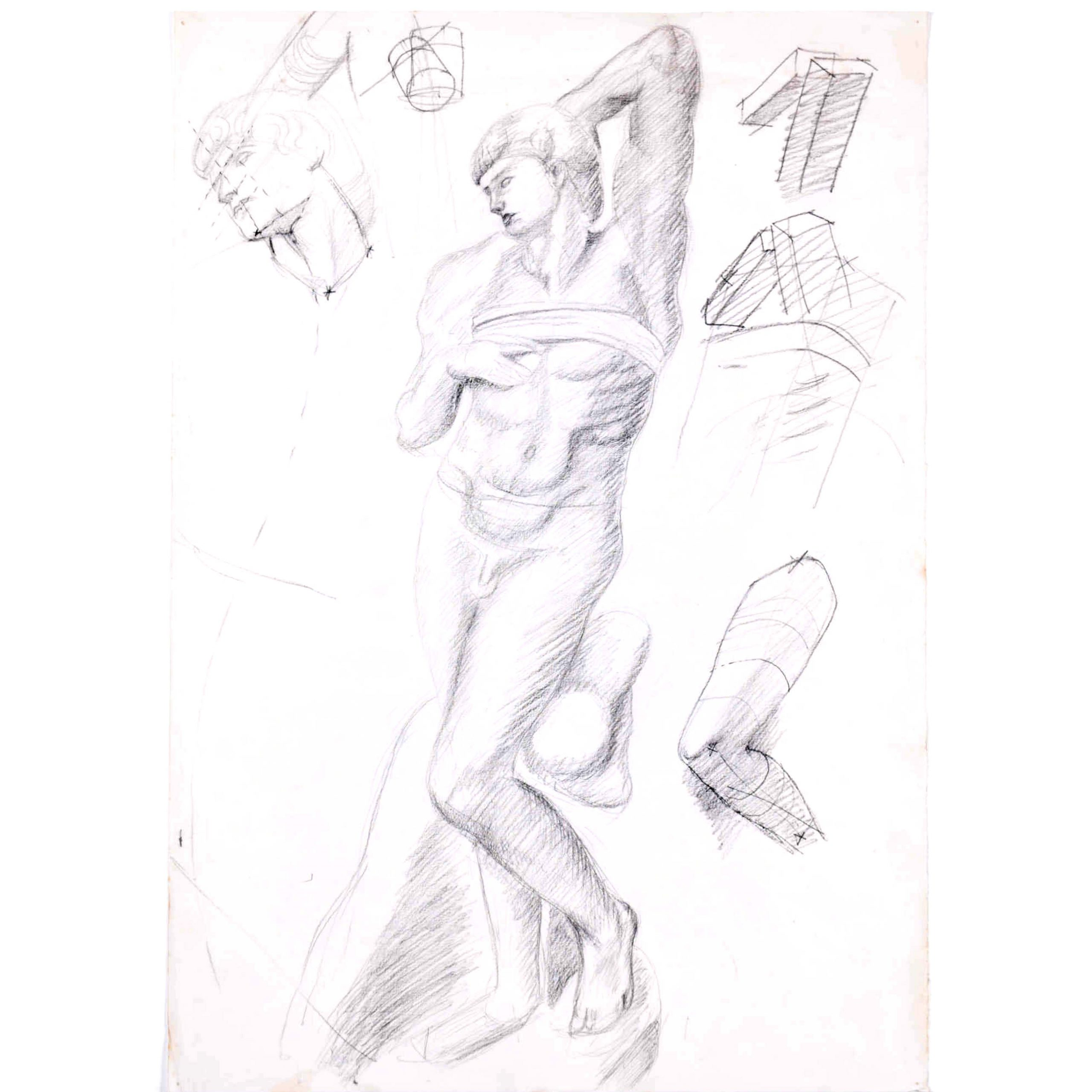 Sketches of a figure: Hilary Hennes Miller c.1940