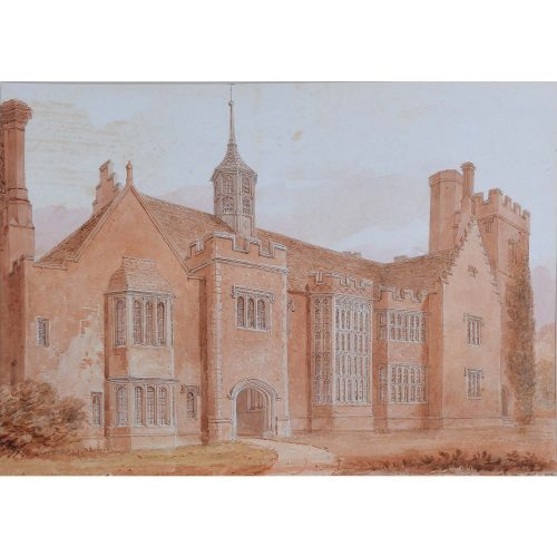 John Chessell Buckler (1793-1894) Horham Hall Essex 1830