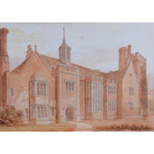 John Chessell Buckler (1793-1894) Horham Hall Essex 1830