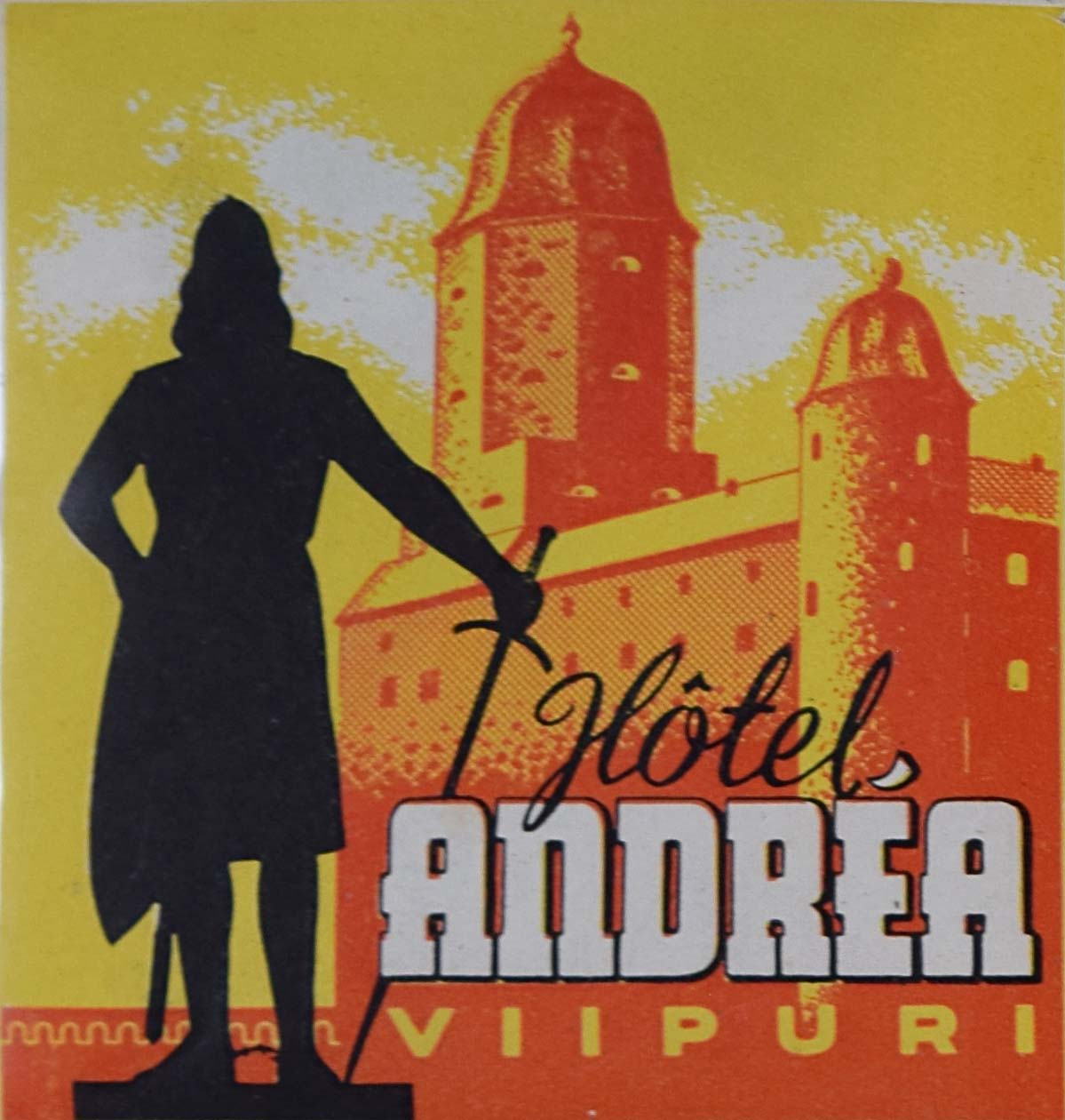 Hotel Andréa Viipuri Original Vintage Luggage Label