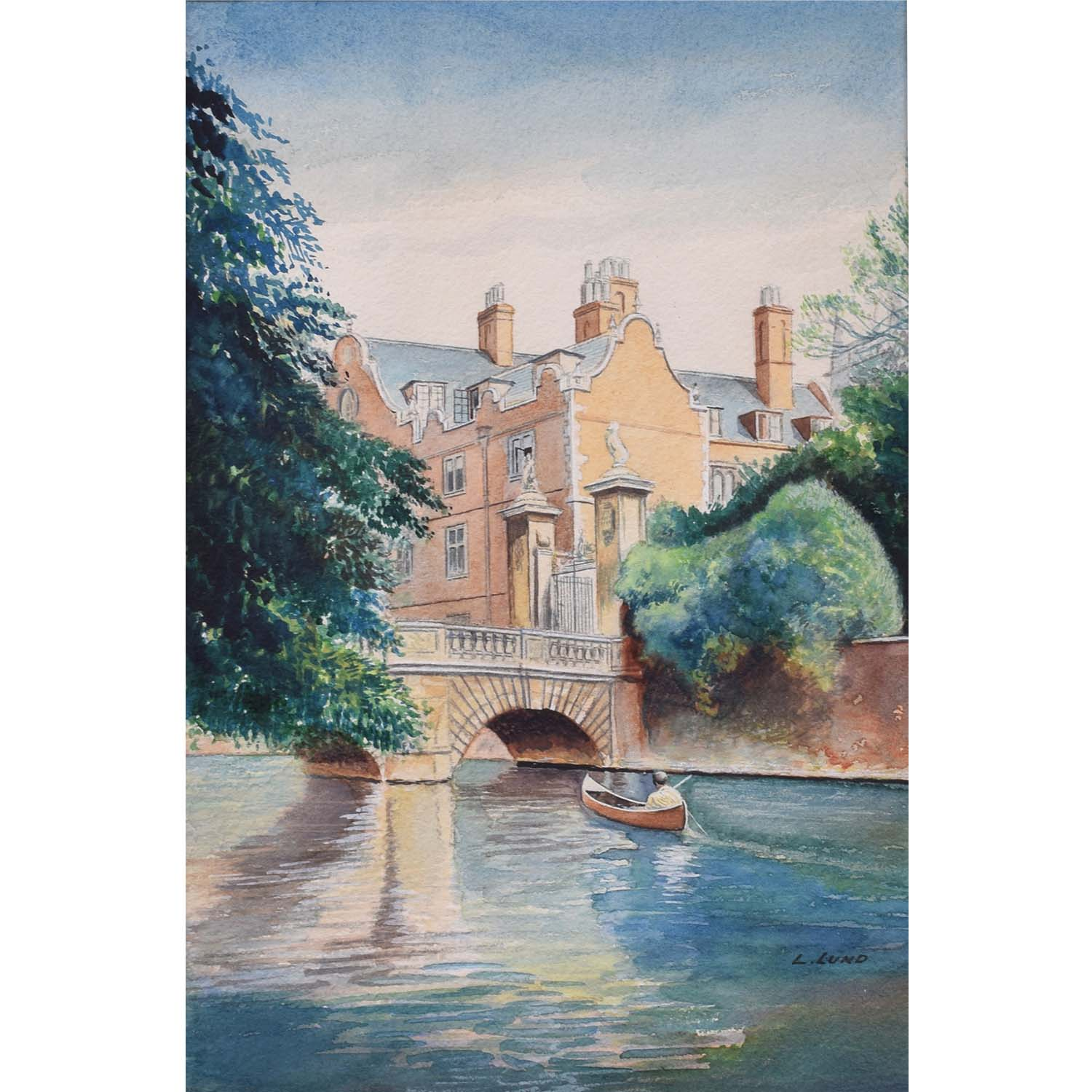 Ludwig Lund St John's College Cambridge Wren Bridge