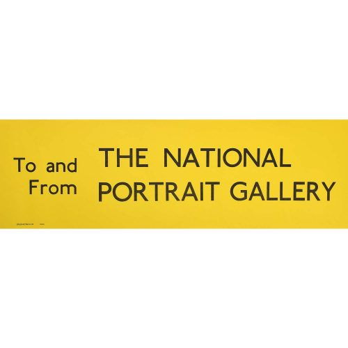 National Portrait Gallery Slipboard Poster c1970