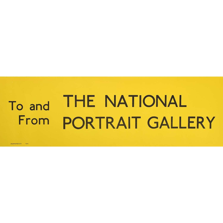 National Portrait Gallery Slipboard Poster c1970
