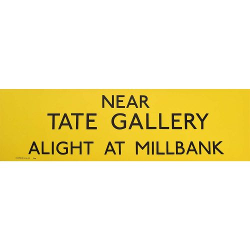Tate Gallery Routemaster Bus Slipboard Poster c1970