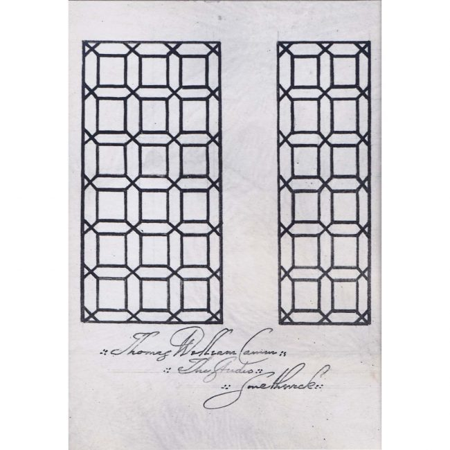 Thomas William Camm Florence Camm Stained Glass Passion Window Design Pattern
