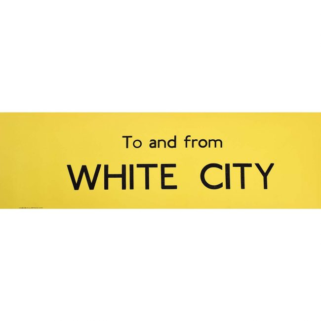 To and From White City Routemaster Bus Slipboard Poster c1970
