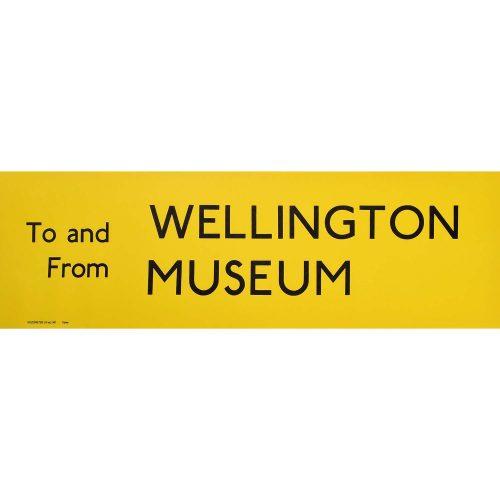 Wellington Museum Routemaster Slipboard Poster c1970