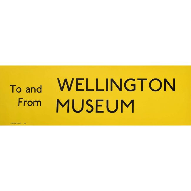 Wellington Museum Routemaster Slipboard Poster c1970