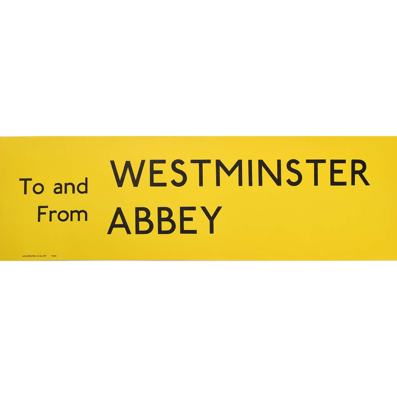 Westminster Abbey Routemaster Bus Slipboard Poster c1970