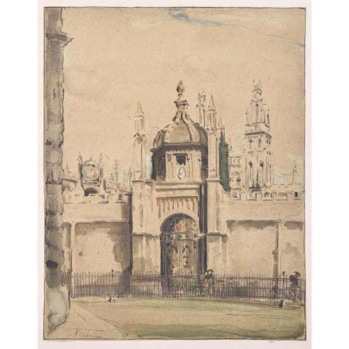 William Nicholson All Souls College Oxford lithograph 1905