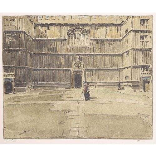 William Nicholson Bodleian Oxford lithograph 1905