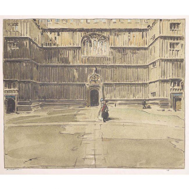 William Nicholson Bodleian Oxford lithograph 1905
