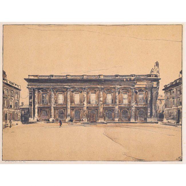 William Nicholson Christ Church Library Oxford lithograph 1905