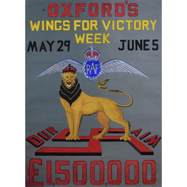 Oxford Wings for Victory Poster Design IV c.1943