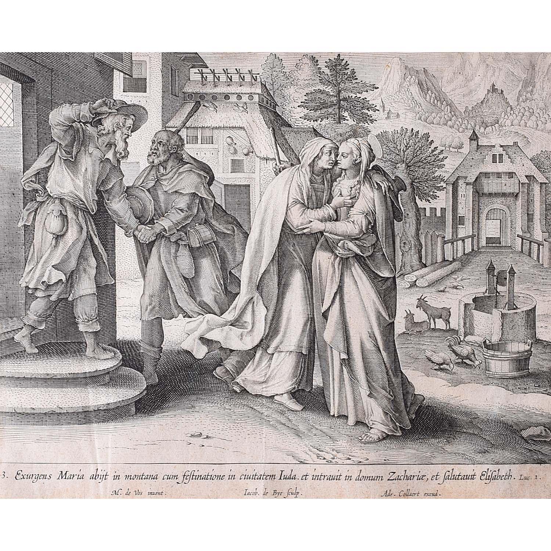 Adrian Collaert Martin de Vos Mary Visits Elizabeth