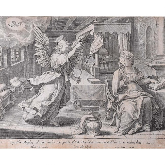 Adrian Collaert Martin de Vos Annunciation of Mary