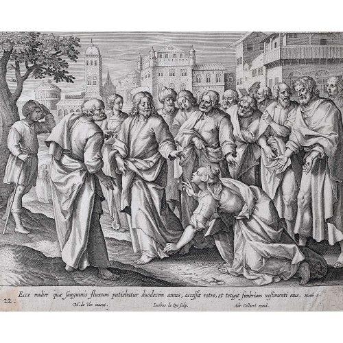 Adrian Collaert Martin de Vos Healing Touch of Jesus