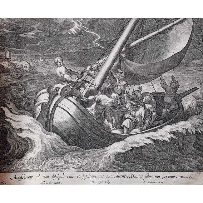 Adrian Collaert Martin de Vos Christ Calms the Storm
