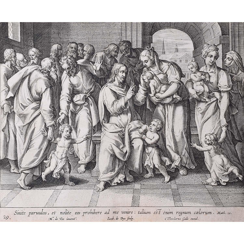 Theodoor Galle Martin de Vos Suffer the Little Children