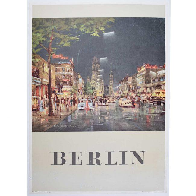 Berlin 1955 Poster Kurfürstendamm Gedächtniskirche