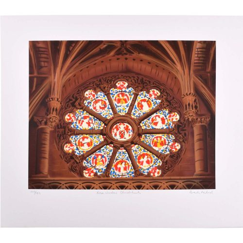 Brendon Neiland Gibbet Scott's Rose Window Christ Church Signed Print 1996