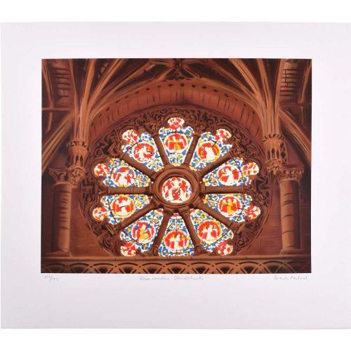 Brendon Neiland Gibbet Scott's Rose Window Christ Church Signed Print 1996