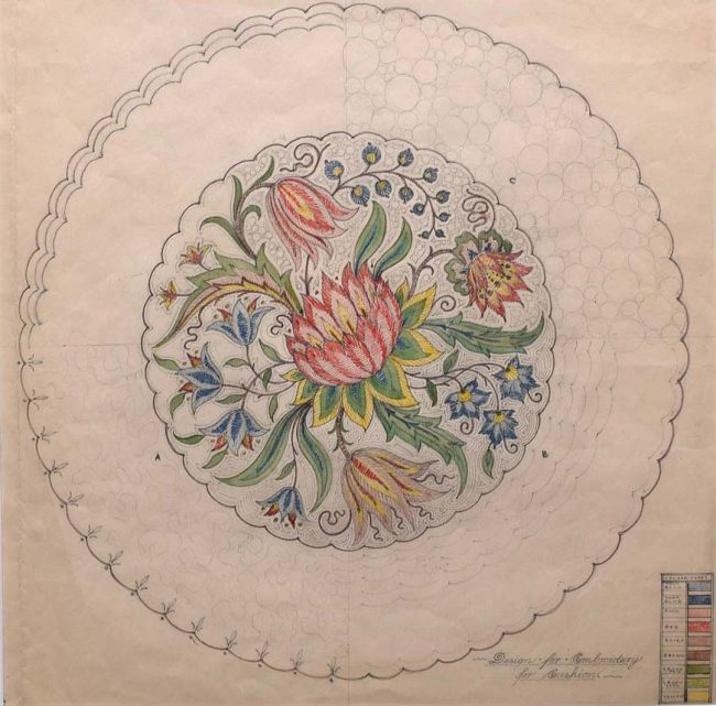 D.L.Hadden Design for an Embroidery for Cushion