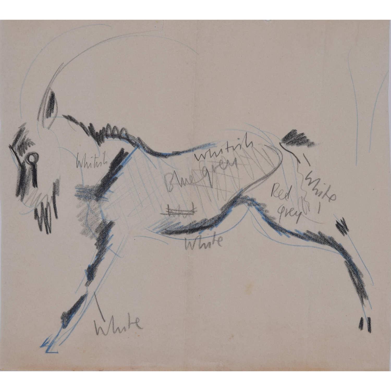 Clifford Ellis Goat Mid-Century Sketch