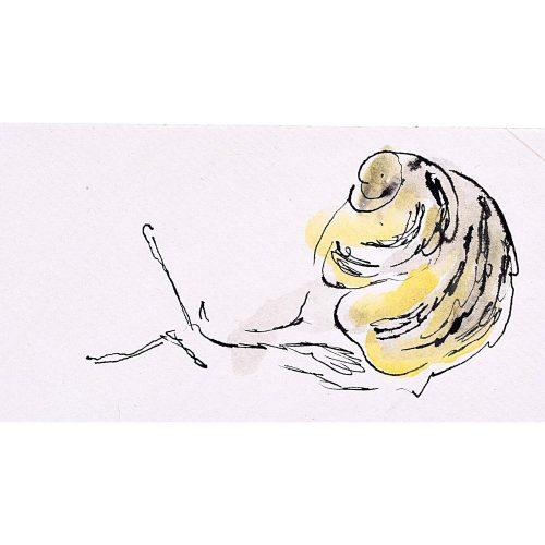 Rosemary Ellis Snail XI Watercolour