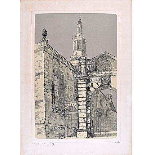 Richard Beer Christ Church Newgate signed print 1970