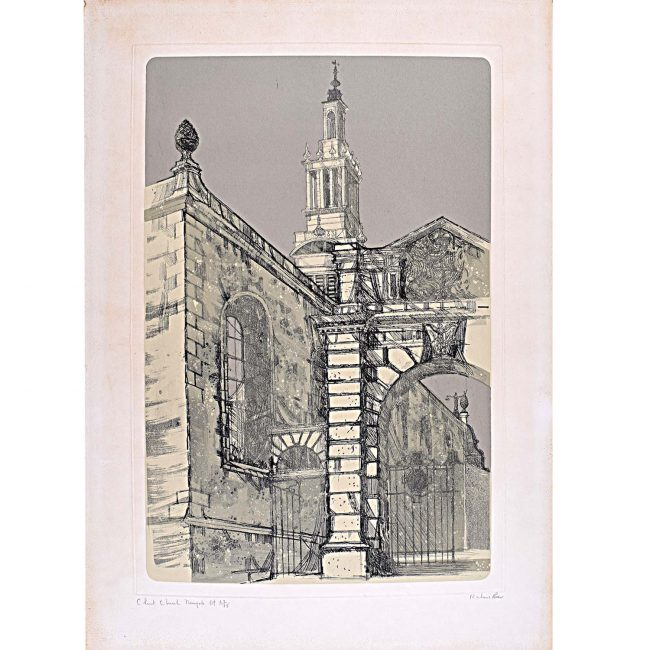 Richard Beer Christ Church Newgate signed print 1970