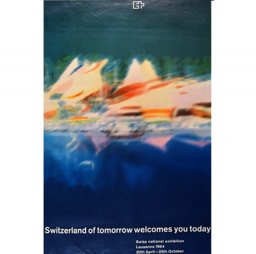 Anonymous Original Switzerland of tomorrow Poster 1964