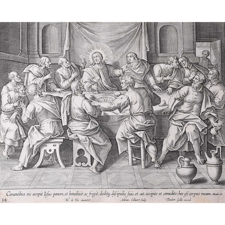 Theodoor Galle Martin de Vos Last Supper